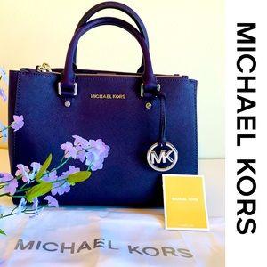 Michael Kors Satchel Sutton Iris New With Tags